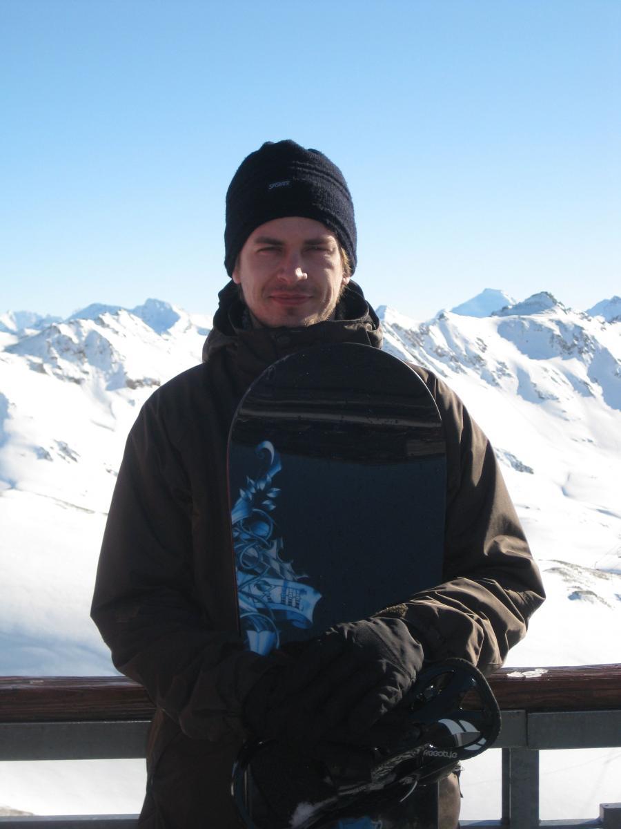 at the top - Grande Motte glacier  (3650 m)