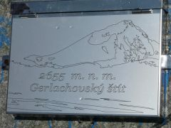 plate on the peak