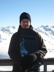 at the top - Grande Motte glacier  (3650 m)