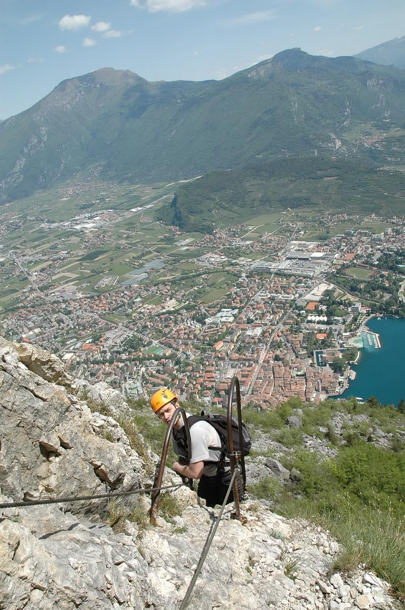 Via ferraty CIMA SAT - Riva del Garda view