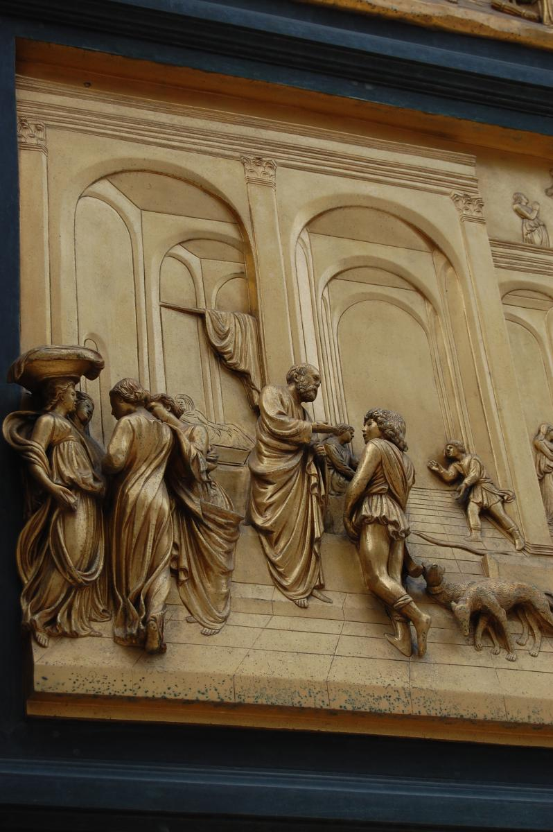 Firenze - Gates of Paradise - Isaac with Esau and Jacob (detail at this bronze beauty)