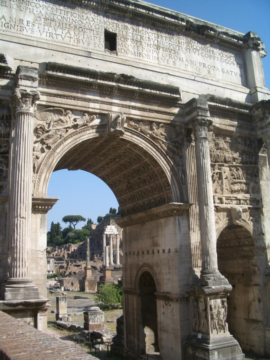 Roma - Arcus Tiberi (one out of four forum arches)