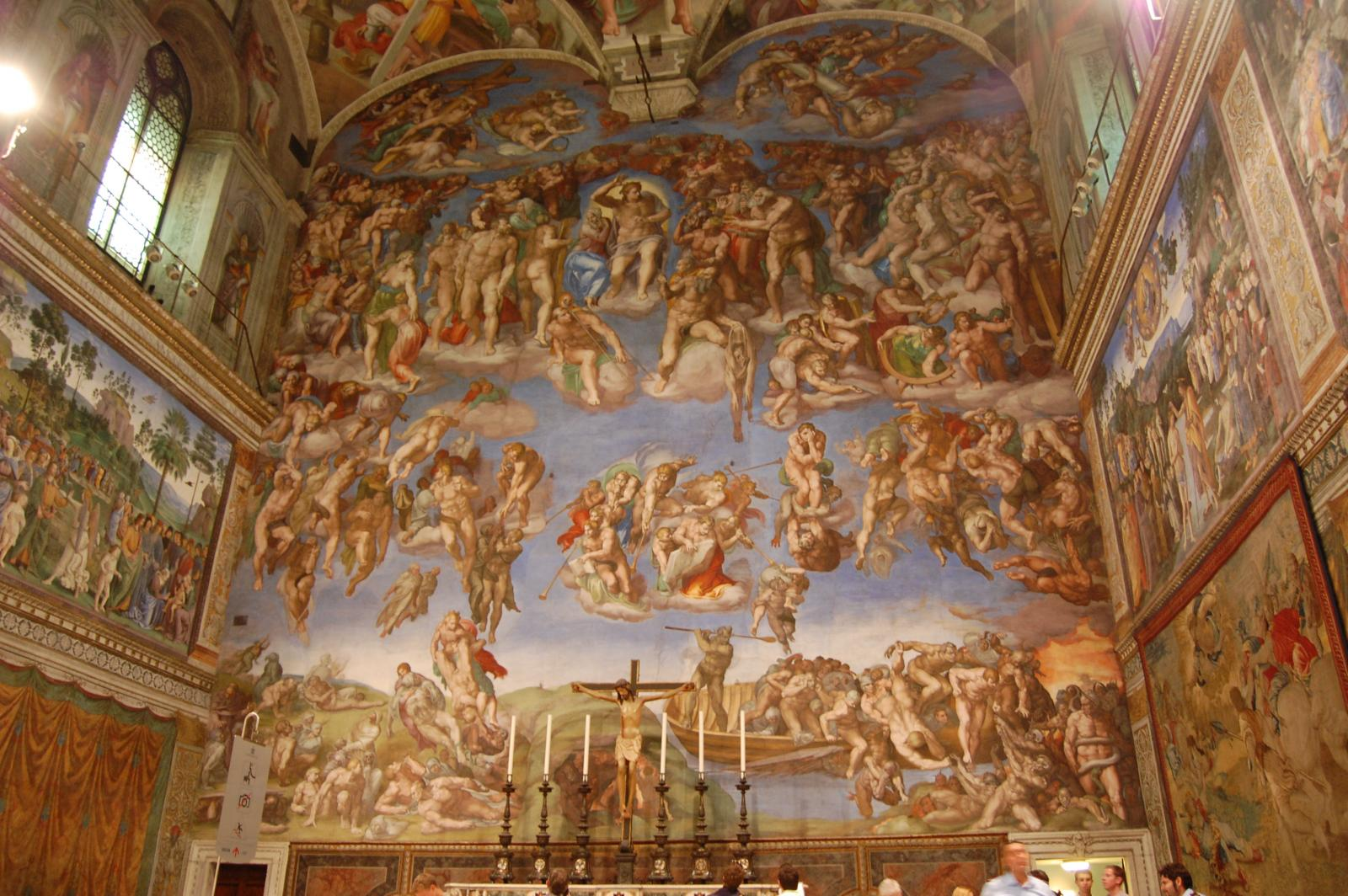 Vaticano - Musei Vaticani - Cappella Sistina - The Last Judgment (can you find Michelangelo's self-portrait?)