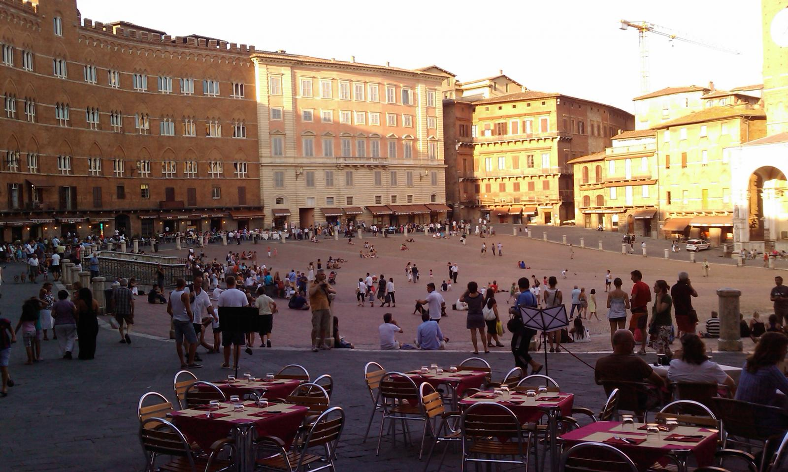 Siena - Piazza del Campo (we missed Il Palio just by a few days)