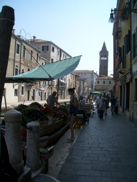 Venezia - boat with fresh food
