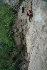 Via ferraty Monte Albano - good start