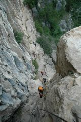 Via ferraty Che Guevara - endless easy climbing
