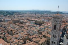 Firenze - view from the Dome which was built without a wooden supporting frame up to 90m in 15th century - impressive