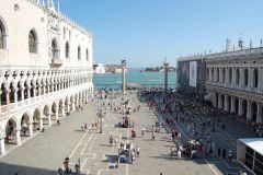 Venezia - Piazzeta San Marco view from Basilica di San Marco (just a few seconds we were thrown back in :-)