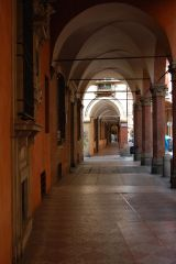 Bologna - typical passage and typical Sunday afternoon - empty