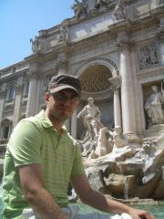 Roma - Fontana di Trevi (great place for fresh water during such heat)