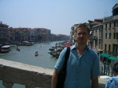 Venezia - Canal Grande from Ponte di Rialto (with me ruining the shot :-)