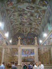 Vaticano - Musei Vaticani - Cappella Sistina (that kept Michelangelo busy for a few years, though he felt he was more of a sculptor than a painter)