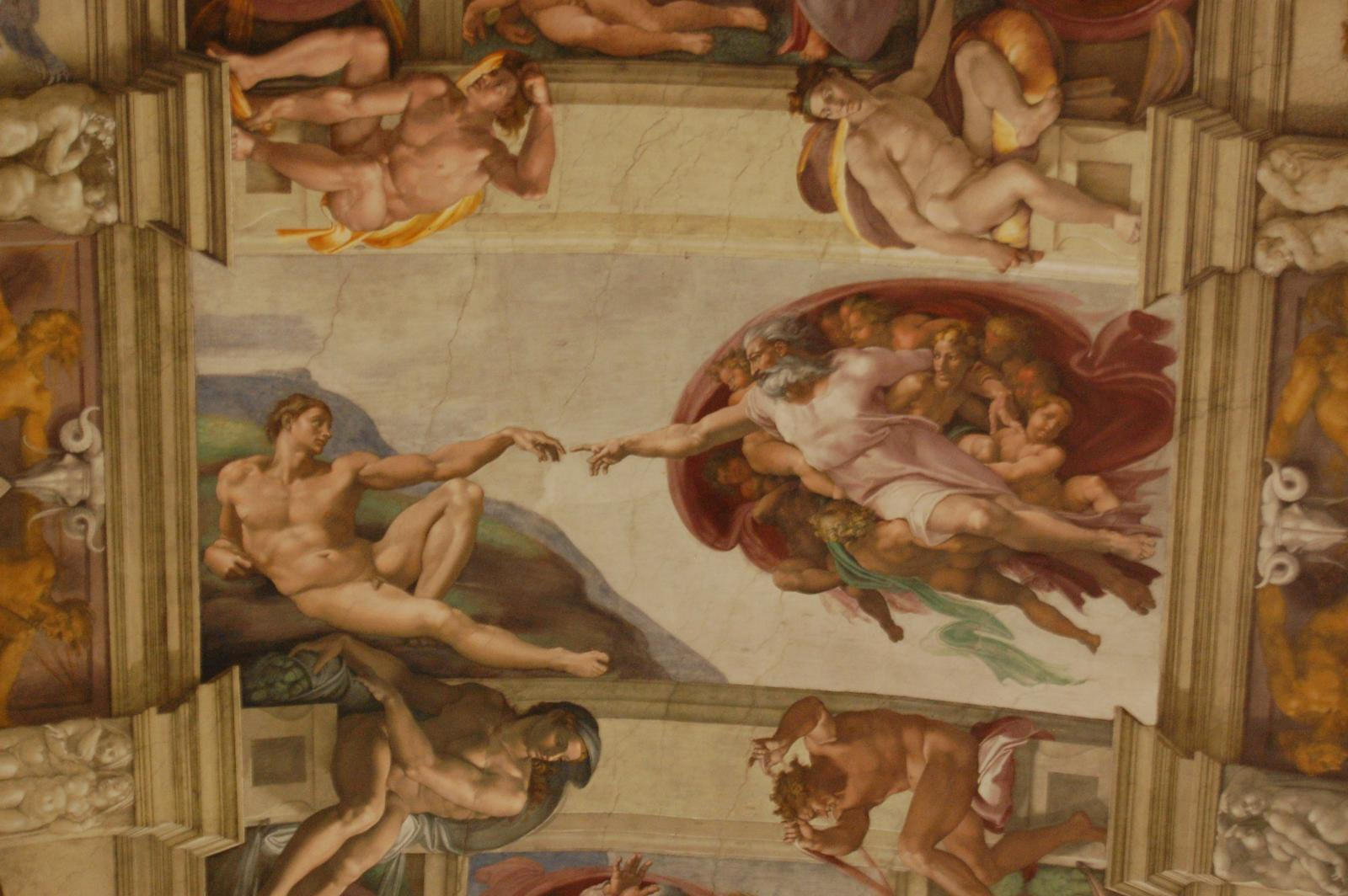 Vaticano - Musei Vaticani - Cappella Sistina - Creation of Adam (that Adam somehow reminds me of a bored man sitting in front of TV, except for those muscles - and that was not description of myself :-)