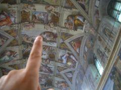 Vaticano - Musei Vaticani - Cappella Sistina - my poor attempt to create Adam