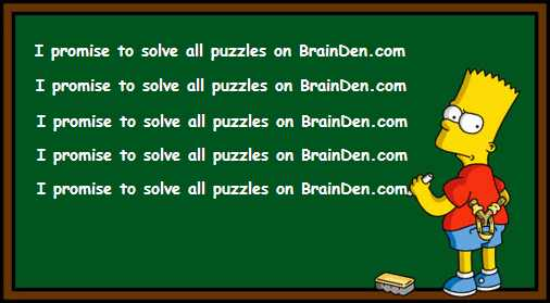 Cool Math Puzzles on BrainDen