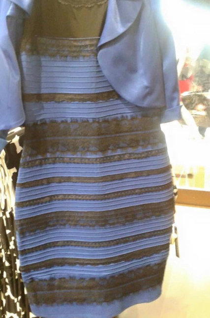 The dress: optical color illusion