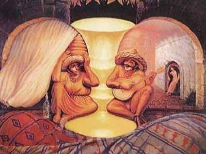 Old Couple - optical illusion for kids and adults