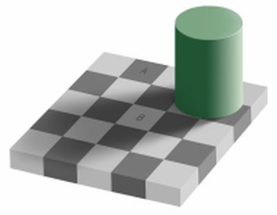 illusion same illusions optical colour colors eye brain colours different visual print perception shadow which checker simple blind checkerboard printing