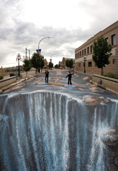 Sidewalk Chart Art - Waterfalls